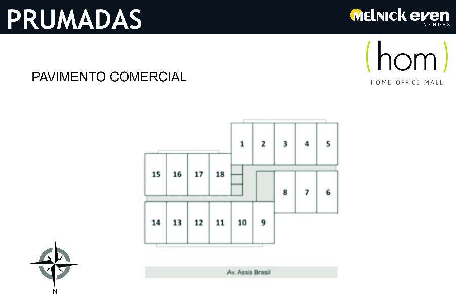 Sala comercial no Hom Lindoia c/ 42 m  c/ 1 vaga no Lindoia em  Porto Alegre.