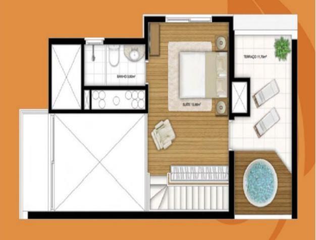 Ótimo apartamento de 1 dormitório,em andar alto com vista,amplo living com cozinha americana,1 vaga de garagem escriturada ,em localização super privilegiada no bairro Rio Branco.